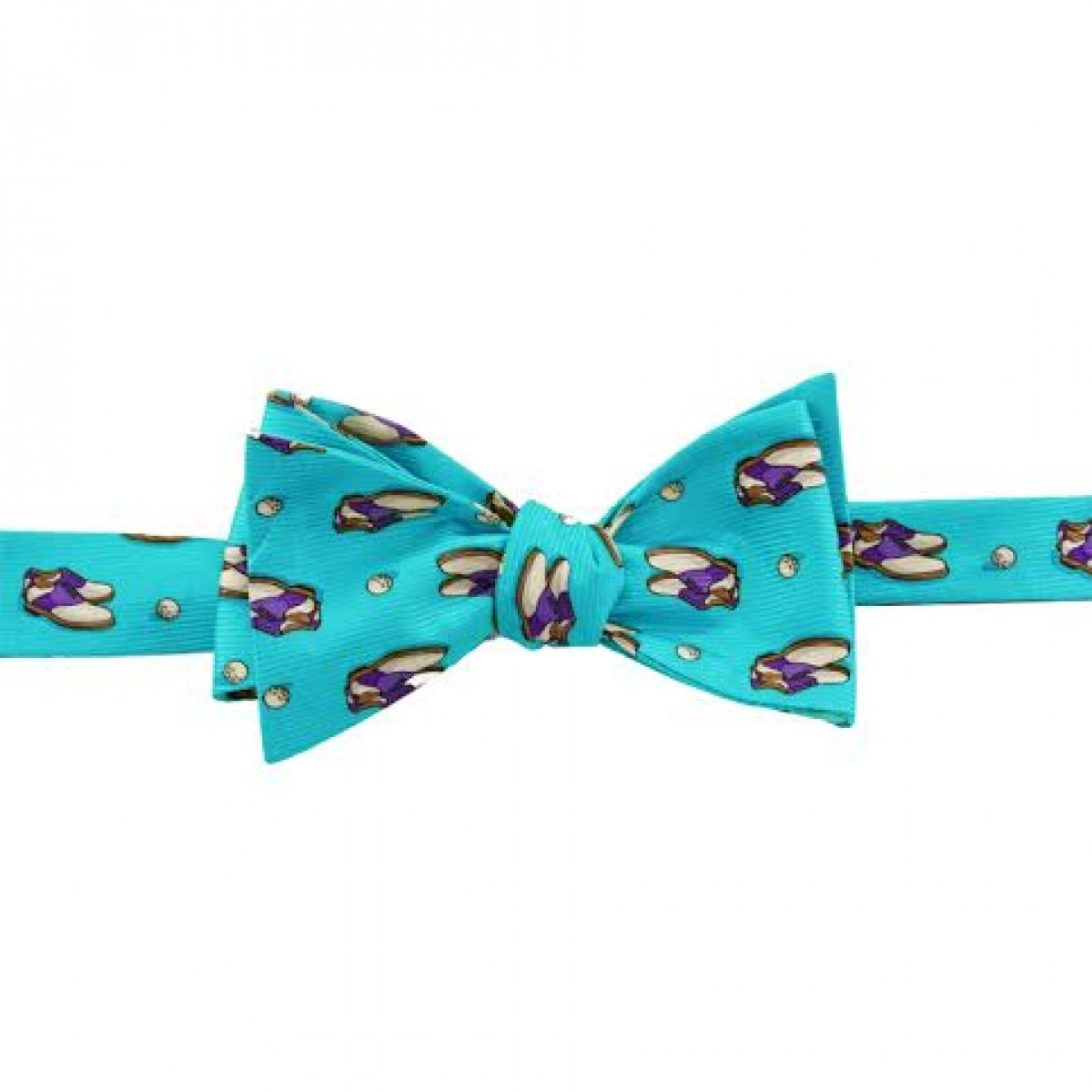 Blue Golf Shoe Bow